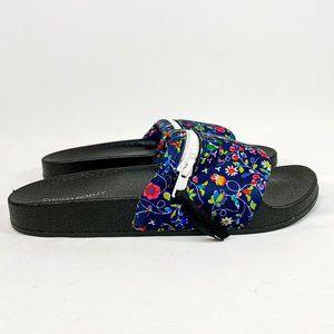 CYNTHIA ROWLEY Multi Color Navy Floral Slides NWT*
